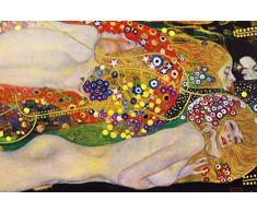 Gustav Klimt - Serpenti d'Acqua II, 1904–1907 Poster Stampa Geante XXL (120 x 80cm)