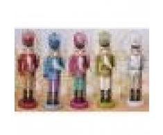 Generic Set 5x Schiaccianoci Statue in Legno, Decorazioni Tavolo o Albero di Natale, Regalo Feste