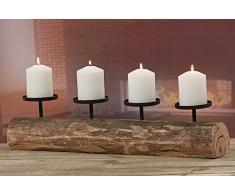 Candelabro Tempe con 4 candele, 51 cm, Materiale: eucalipto