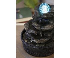 Zen Light - Fontana a forma di roccia, in poliresina, colore: marrone scuro, 20 x 20 x 23 cm