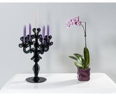 Iplex Design Vittoriale Total Candelabro Centrotavola, Plexiglass/PMMA, Nero, 28x25x52 cm