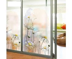Glass Stickers Pellicola per Vetri Fiorai Dendranthema Adesivi Decorativi per La Privacy Pellicole per Vetri Satinate Pellicole per Fiori Glassate Adesivi per Finestre 70x200cm