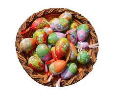 Decorazioni, set di 12 pezzi in stile Vintage, in cartapesta a forma di uovo di pasqua, decorazioni da appendere