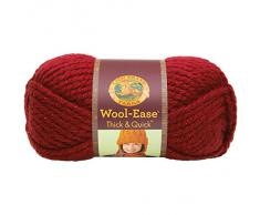 Lion Brand Yarn Company 1 pezzo Wool-Ease Thick and Quick, Stella di Natale