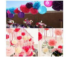 XCSOURCE 5pcs 15cm (6 pollici) della sfera del fiore di carta velina Pom Poms Decorazione per feste di nozze WV069