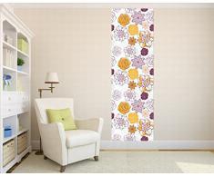 1art1 65746 Fiore Decorazione murale poster da parete Stripe - fiori di fantasia, 250 x 79 centimetri