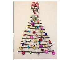 Colorfulworld - 20 cm di decorazioni, set di palle per l'albero di Natale, rosso, 4cm