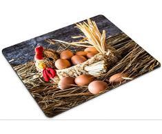 Luxlady Gaming Mousepad Image ID: 26540235 uova di Pasqua nel cestino su tavole di legno vintage