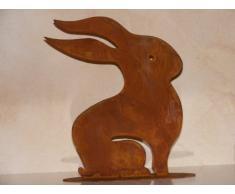 Coniglietto di pasqua Ulla in metallo in Ruggine