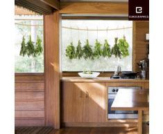 Eurographics WS-DT6027 - Adesivo per finestra riutilizzabile Erbe appese, 25 x 70 cm