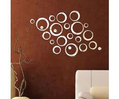 """Wall Sticker, DDLBiz® Adesivi Murales, Carta da Pareti """"circolo Specchio"""" Decorazione Murali da Parete"""