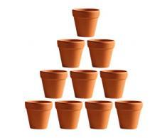 NUOBESTY - 20 mini vasi di argilla in terracotta, cactus, succulenti, vasi per piante in ceramica, piante e vive, per interni ed esterni