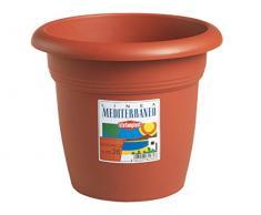 Stefanplast 3826765 Vaso Mediterraneo Giardino, Arredo da Esterno, Marrone, 65 cm