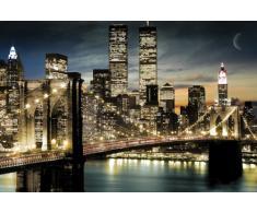 Empire 173010 Poster New York, Night & Moon, Skyline 91,5x61 cm