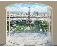 Walltastic Torre Eiffel e Parigi Carta da Parati Murale, 12x6x5.25 cm