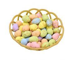 Bebliss, uova di Pasqua colorate, uova di schiuma, ornamenti decorativi da appendere, per fai da te, artigianato, decorazioni pasquali