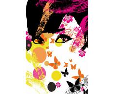 Pop Art - Floral Girl Poster Carta da Parati Fotomurale (254 x 183cm)