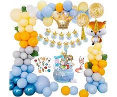 MMTX Decorazioni di Compleanno Piccolo Principe, Palloncino Compleanno di Compleanno Banner con Topper Torta e Tatuaggi per Bambini Ragazzo 1 Anni 2 Anni 3 Anni 5 Anni 16 Anni 18 Anni
