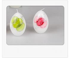 Exclusive Uova candela Swing 9 cm 1 pezzi regali a Pasqua decorazioni pasquali