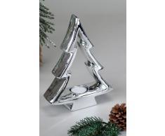Decorazione albero 'candeliere', 23 cm, argento/lucido