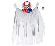 Widmann 01387 - Decorazione per Feste Halloween Pagliaccio Assassino
