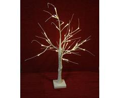 Unbekannt Regali di Natale Albero LED Glitter di 60 cm, Plastica, Bianco, 11 x 11 x 60 cm