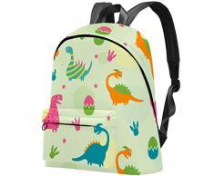 Uova colorate di dinosauro Borsa Teens Student Bookbag Borse a tracolla leggere Zaino da viaggio Zaini giornalieri