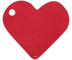 Artificiali - Segna posto x10 Cuore Rosso 4 x 4 cm
