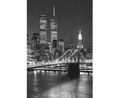 New York - Brooklyn Bridge 4-Parts Poster Carta Da Parati Fotomurale (254 x 183cm)