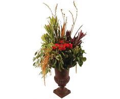 Esschert - Vaso decorativo per piante stile francese, con piedistallo, altezza 35 cm