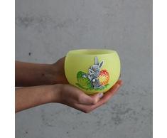 Lampion Osterhase Uova Giallo diametro 120 mm Candela Pasqua – Candela
