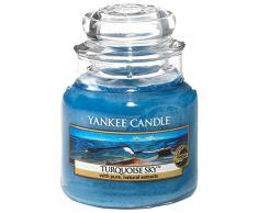 Yankee Candle Candela Piccolo Vaso, Cielo Turchese