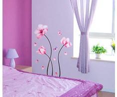 Rosa Camelia Fiori Farfalle parete in pvc adesivo rimovibile in salone camera da letto Cucina Art Picture Murals Sticks finestra porta decorazione + 3d rana regalo adesivo per auto