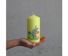 B. Candle Manufaktur Easter Bunny Giallo Cilindro Candela 150 X 70 mm Cero Pasquale Pasqua Candela