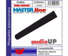 Moquette acustica adesiva per rivestimento box colore nero universale. Dimensioni cm70x140