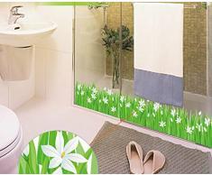 Skyllc® Sayuri Grassland baseboard cucina bagno ingresso porta e finestra decorazione adesivi da parete