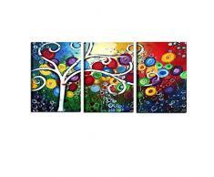 I Colori del Caribe Quadri COMPONIBILI Olio su Tela Dipinti A Mano Musica Quadro Moderno Alta QUALITA Made in Italy Note Musicali