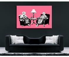 """'Banksy stampa su tela, 100 x 70 cm K. Poster. Tela già su telaio. Pop Art dipinto stampe artistiche da parete, immagini, immagini per decorazione – decorazione/Top 100 """"Banksy foto – Graffiti/Street Art stampe artistiche"""