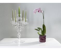 Iplex Design Vittoriale Total Candelabro Centrotavola, Plexiglass/PMMA, 28x25x52 cm