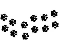 Cane/gatto, motivo: impronte di zampe, vinile auto adesivi, finestre, van
