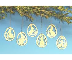 Montagne di öre di Seiffen 7cm di Natale di tema del coniglietto di pasqua dell'ornamento dell'albero NUOVE