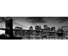 Empire Interactive - Poster rettangolare, soggetto: New York-Ponte di Brooklyn al tramonto, 91,5 x 30,5 cm, con accessori