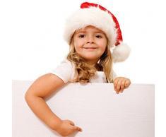 TREESTAR Cappello di Natale di Velluto Oro di Lusso Felpa Cappello di Natale di Santa Claus Stile B