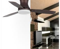 Ventilatori da soffitto con lampada TONSAY - MARRONE SCURO - 3 PALE