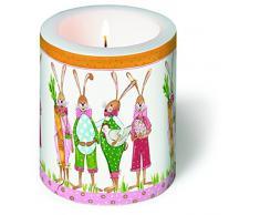 Decorazione candela rotonda pronto per Pasqua