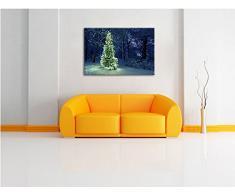 Brillante albero di Natale su tela, Immagini XXL completamente incorniciati con grandi cornici di cuneo, foto muro Stampa artistica con cornice, più economico di pittura o foto, senza manifesti o poster, Leinwand Format:120x80 cm
