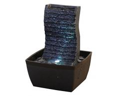 Zen Light ondulo Fontana poliresina Nero 13Â x 12Â x 19Â cm