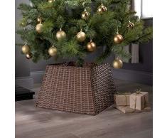 Greenfields Gonna in Vimini di Rattan Supporto per Albero di Natale Base per cestello Copertura ordinata (Marrone)