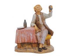 Fontanini Statuine Presepe: Avventore Seduto al Tavolo con Bicchiere in Mano 12 cm 255