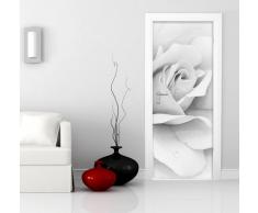 PT0105 Wall Art Decorazione adesiva per porte arredo casa - Porta Rosa Bianca - Stampa su PVC adesivo bubble free